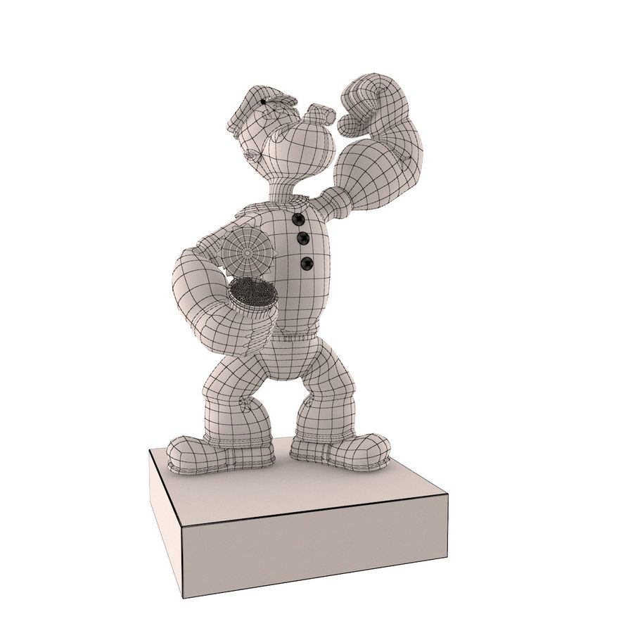 Scultura popeye Jeff Koons royalty-free 3d model - Preview no. 7