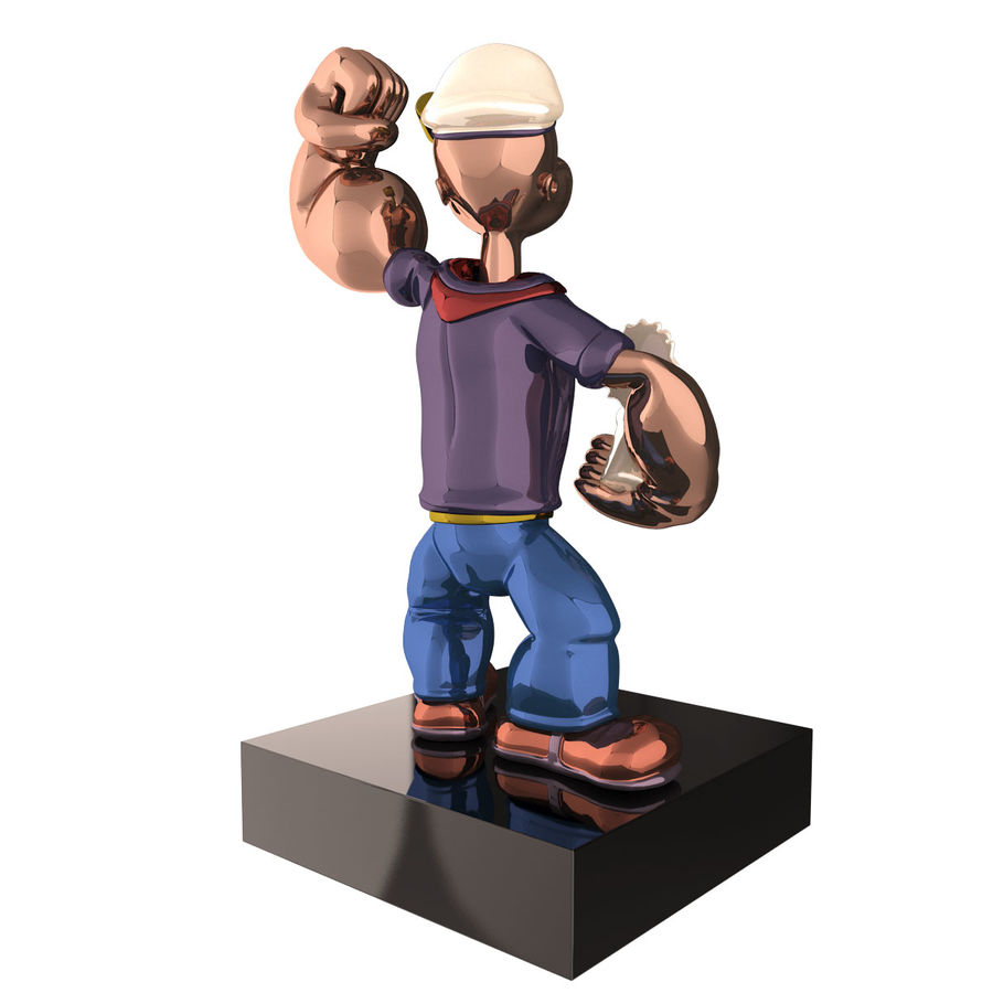 Scultura popeye Jeff Koons royalty-free 3d model - Preview no. 4