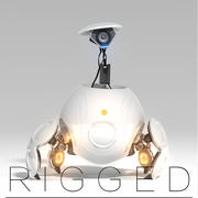 Robô Sci Fi manipulado 3d model