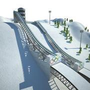 ski jumping 3d model