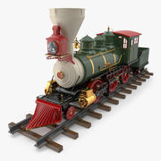 크리스마스 기관차 장난감 3d model