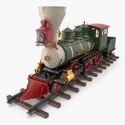 Christmas Locomotive Toy 3d model