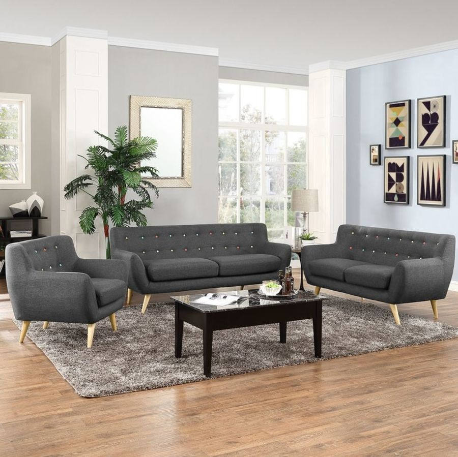 Meggie 3 Piece Scandinavian Living Room Set By Langley Street 3d Model 9 Max Free3d