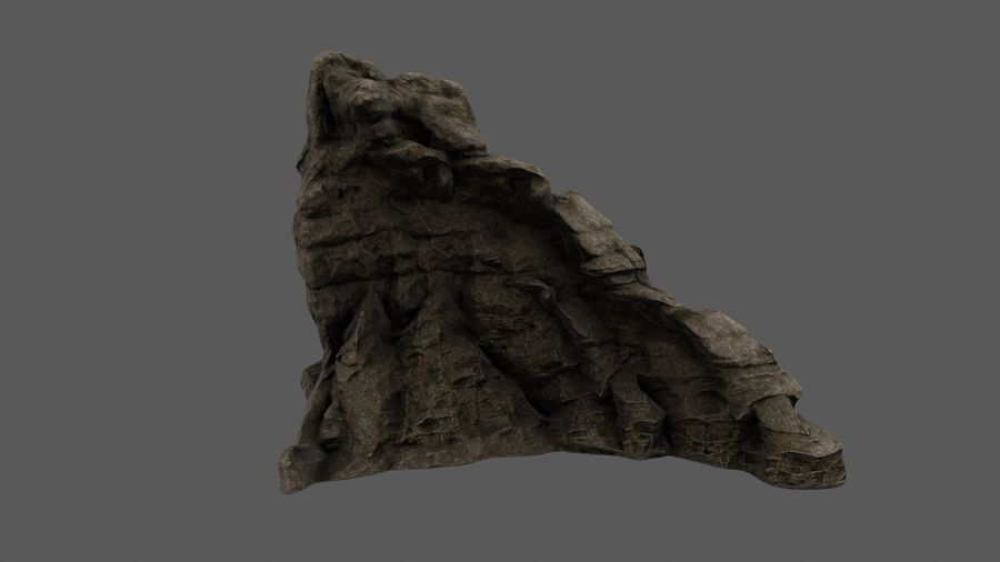 berg royalty-free 3d model - Preview no. 3
