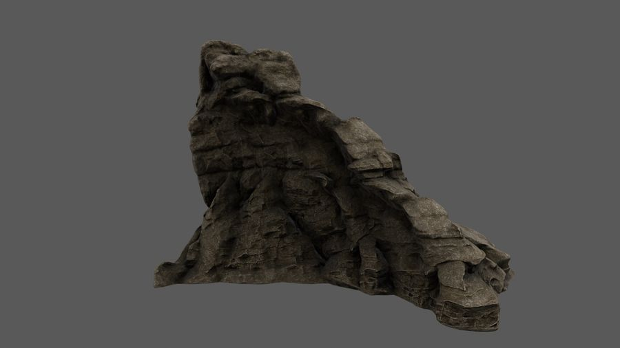 berg royalty-free 3d model - Preview no. 10