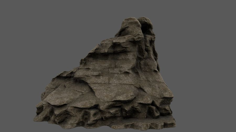 berg royalty-free 3d model - Preview no. 7