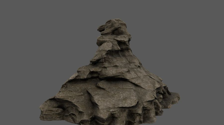 berg royalty-free 3d model - Preview no. 8
