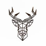 ウォールアート-鹿の頭の壁の装飾 3d model