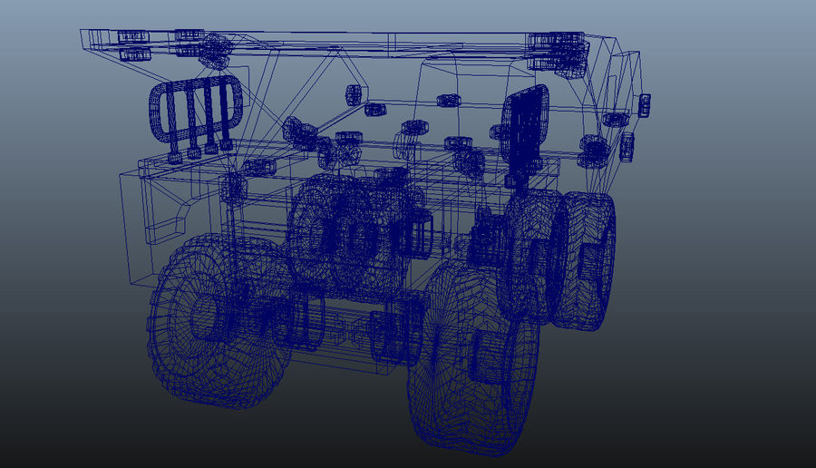 Toy Dump Truck royalty-free 3d model - Preview no. 7