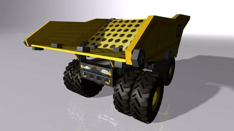 Toy Dump Truck royalty-free 3d model - Preview no. 3