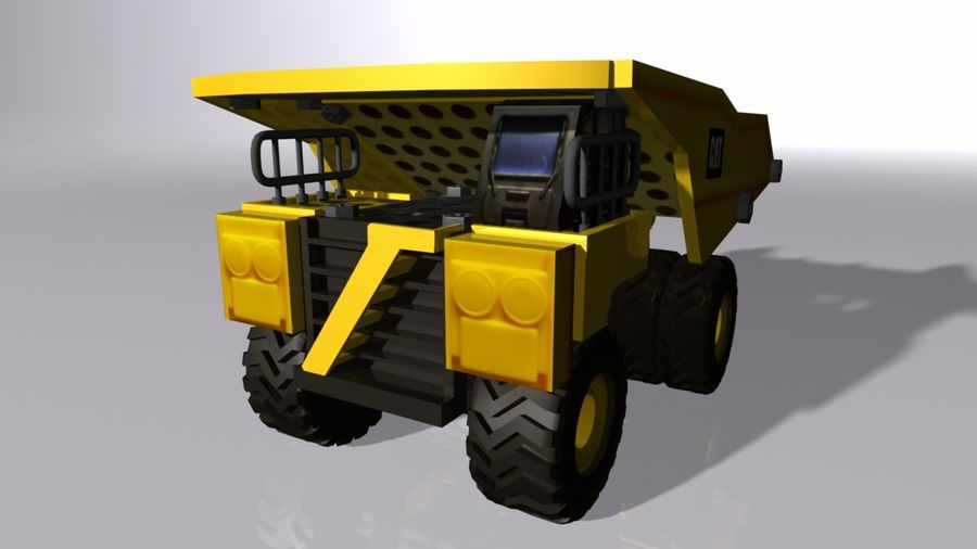 Toy Dump Truck royalty-free 3d model - Preview no. 1