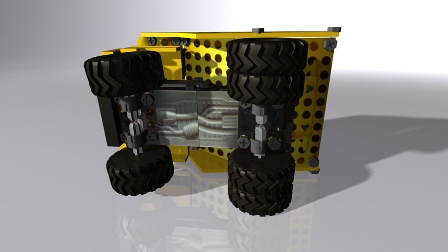Toy Dump Truck royalty-free 3d model - Preview no. 4