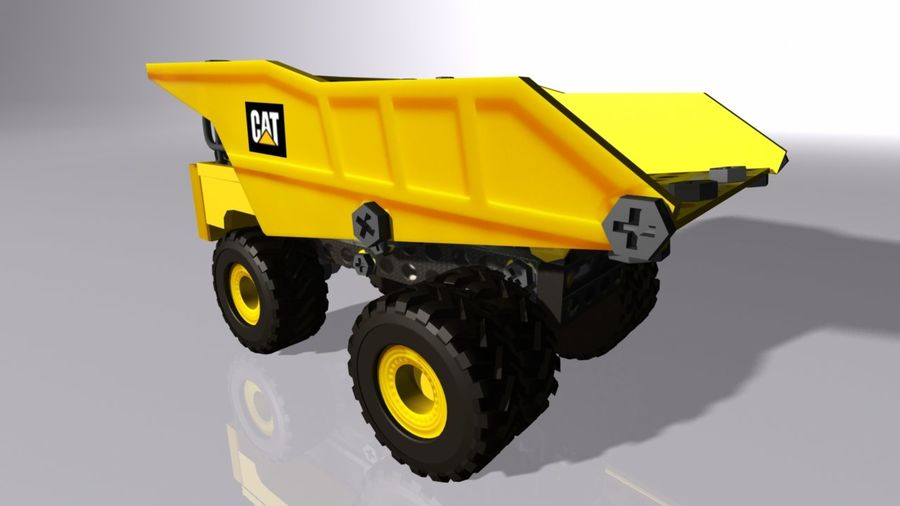 Toy Dump Truck royalty-free 3d model - Preview no. 5