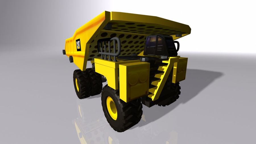 Toy Dump Truck royalty-free 3d model - Preview no. 2