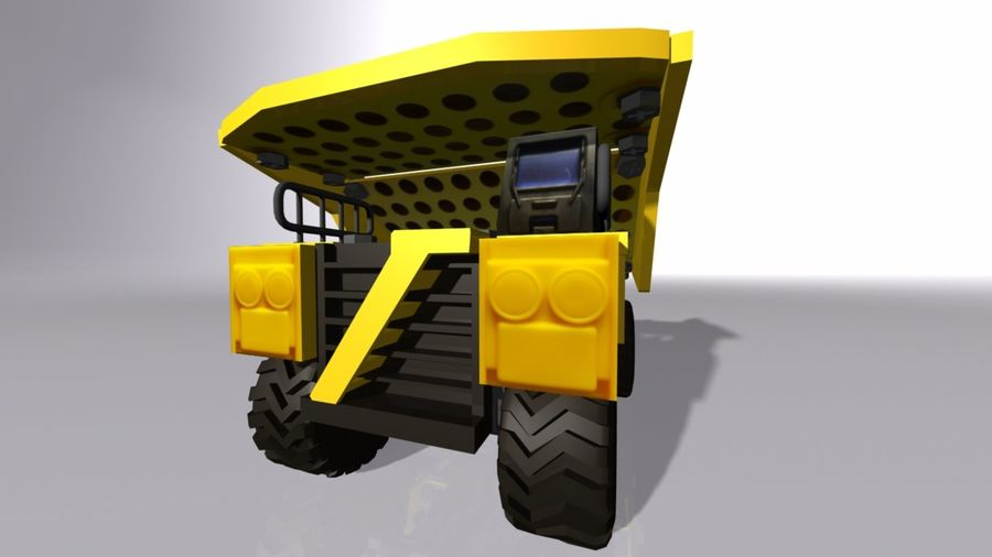Toy Dump Truck royalty-free 3d model - Preview no. 6