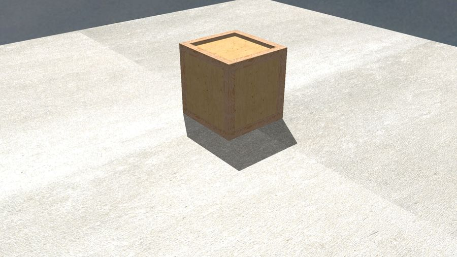 Wooden Box Crate royalty-free 3d model - Preview no. 4