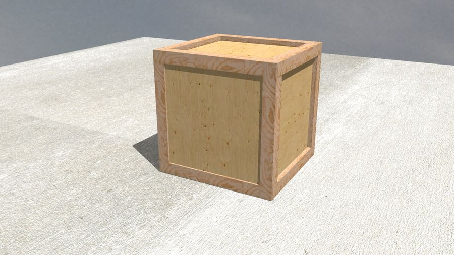 Wooden Box Crate royalty-free 3d model - Preview no. 1