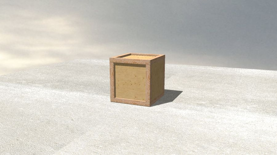 Wooden Box Crate royalty-free 3d model - Preview no. 5