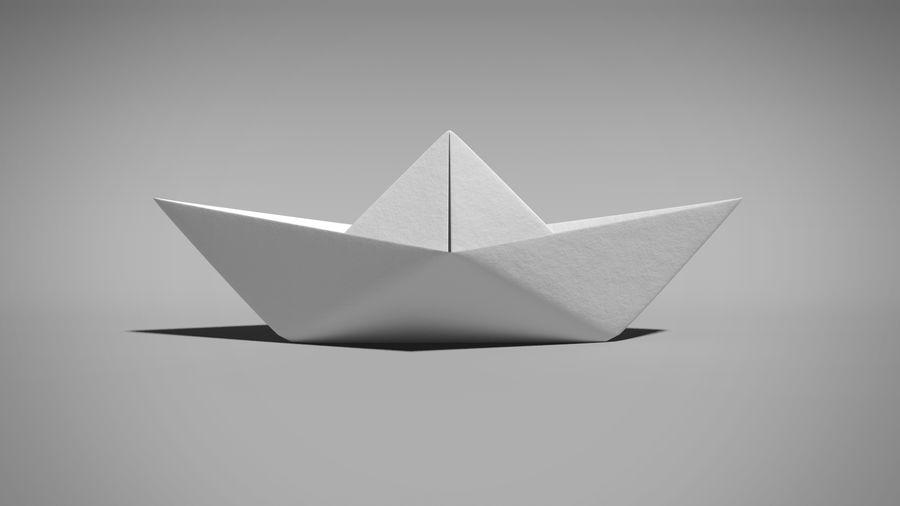 Origami Ship 3d Model 7 Fbx Obj Ma Free3d