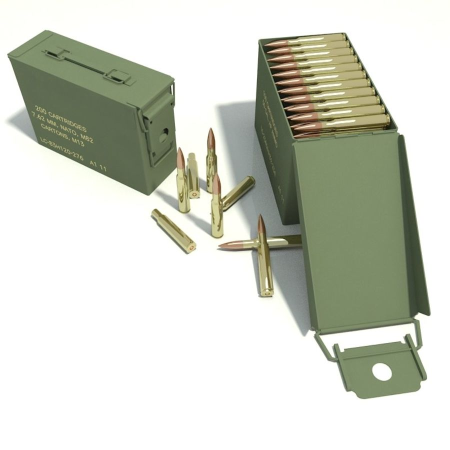 Ammo Box royalty-free 3d model - Preview no. 2