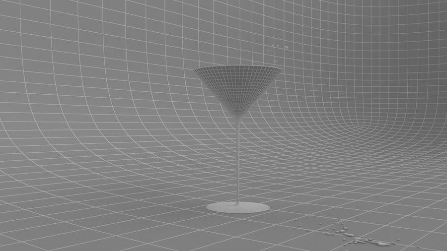 Copa de Martini Splash royalty-free modelo 3d - Preview no. 5