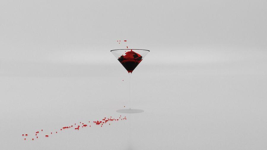 Copa de Martini Splash royalty-free modelo 3d - Preview no. 1