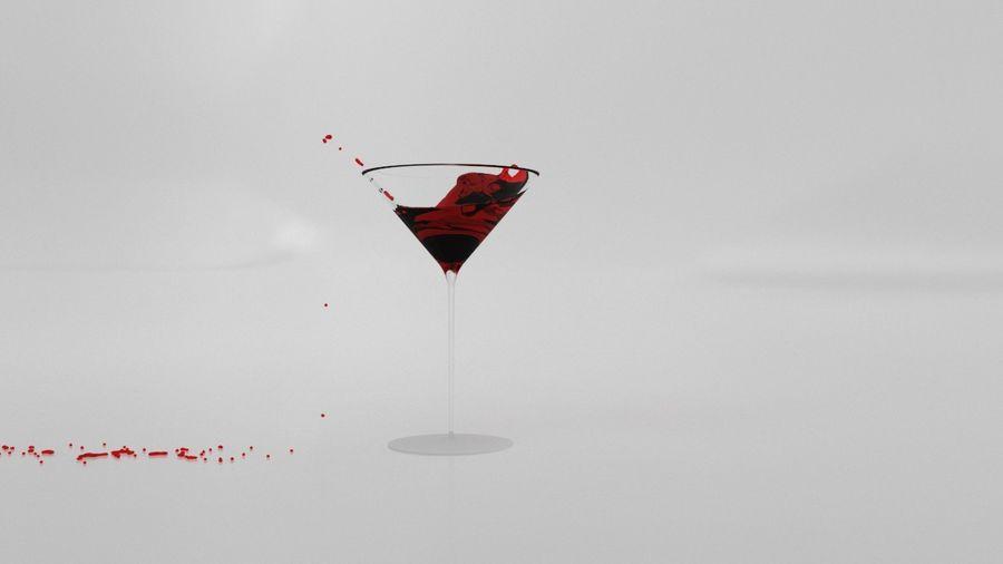 Copa de Martini Splash royalty-free modelo 3d - Preview no. 3