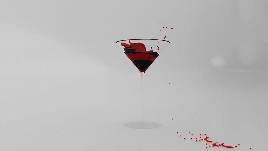 Copa de Martini Splash royalty-free modelo 3d - Preview no. 2
