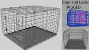 Animal Dog Crate Rigged 3d model