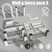 Wall and fence pack A collection 3d model
