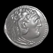Alexander the great coin 3d model