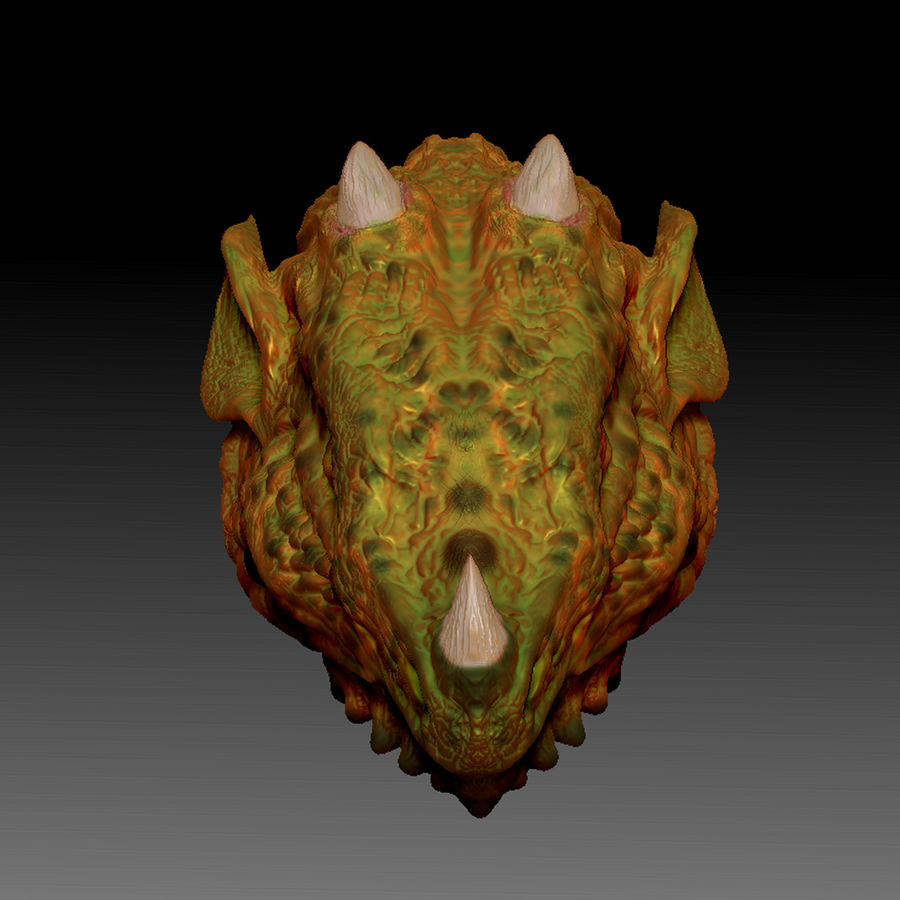 Głowa smoka royalty-free 3d model - Preview no. 4