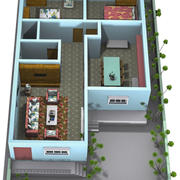 Interiör och exteriör 3d model