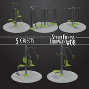 Street Fitness Equipment # 08 3d model