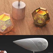 ДЖОНАТАН АДЛЕР Owl & TOM DIXON Etch 3d model