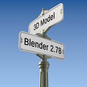 Retro znak uliczny 3d model