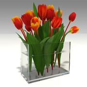 tulipes dans un vase 3d model