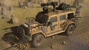 Post Apocalyptic Jeep 3d model