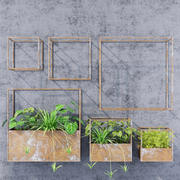 Cube shelves 3d model