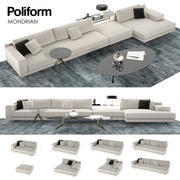 Mondrian Poliform sofa 3d model