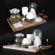 Cofeテーブルデコアセット 3d model