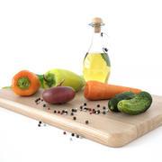 Küchendekorset (Gemüse) 3d model
