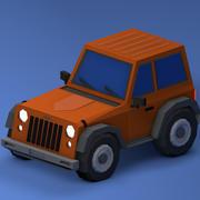 Low Poly Jeep 3d model