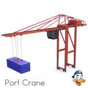 Guindaste portuário 3d model