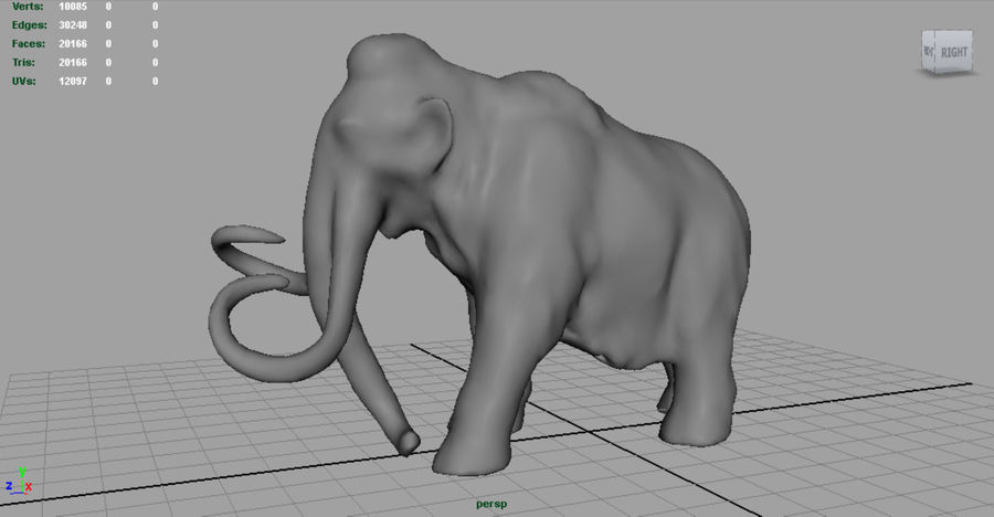Mammut royalty-free 3d model - Preview no. 6