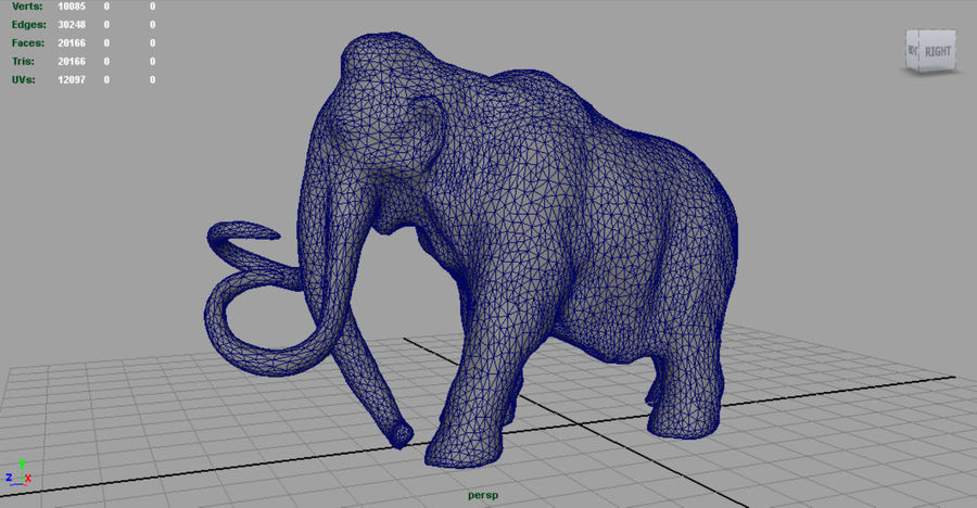 Mammut royalty-free 3d model - Preview no. 7