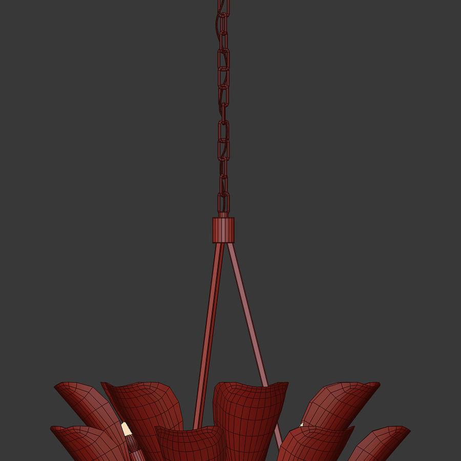 Żyrandol Arteriors Goulding 15 rogów royalty-free 3d model - Preview no. 5