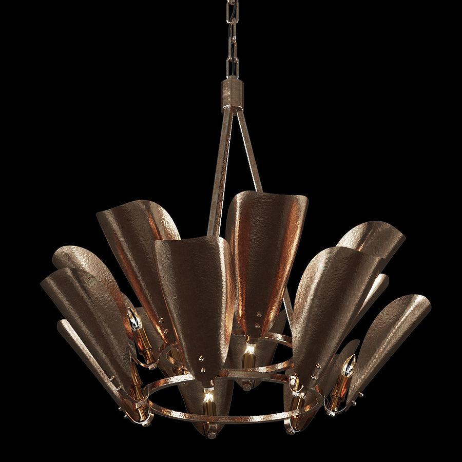 Żyrandol Arteriors Goulding 15 rogów royalty-free 3d model - Preview no. 4