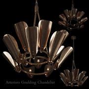 Żyrandol Arteriors Goulding 15 rogów 3d model