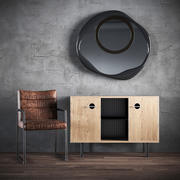 A set of furniture - a chair a chest of drawers a mirror 3d model